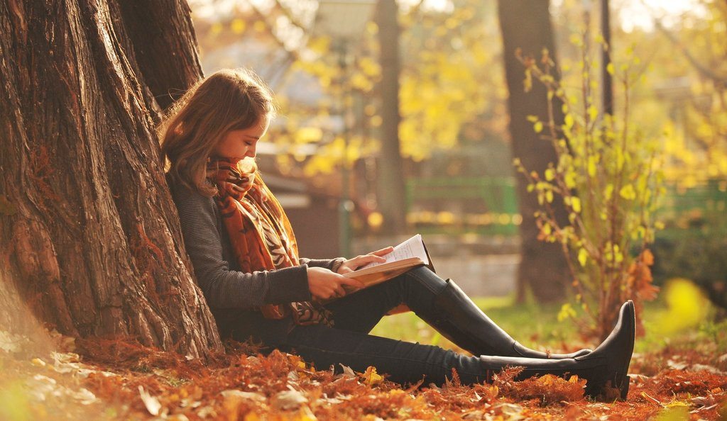 Girl reading Desktop and mobile wallpaper Wallippo 1024x594