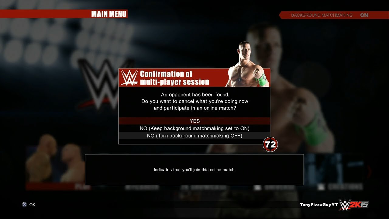WWE 2K15 Online Background Matchmaking PS4 XBOX ONE Next 1280x720
