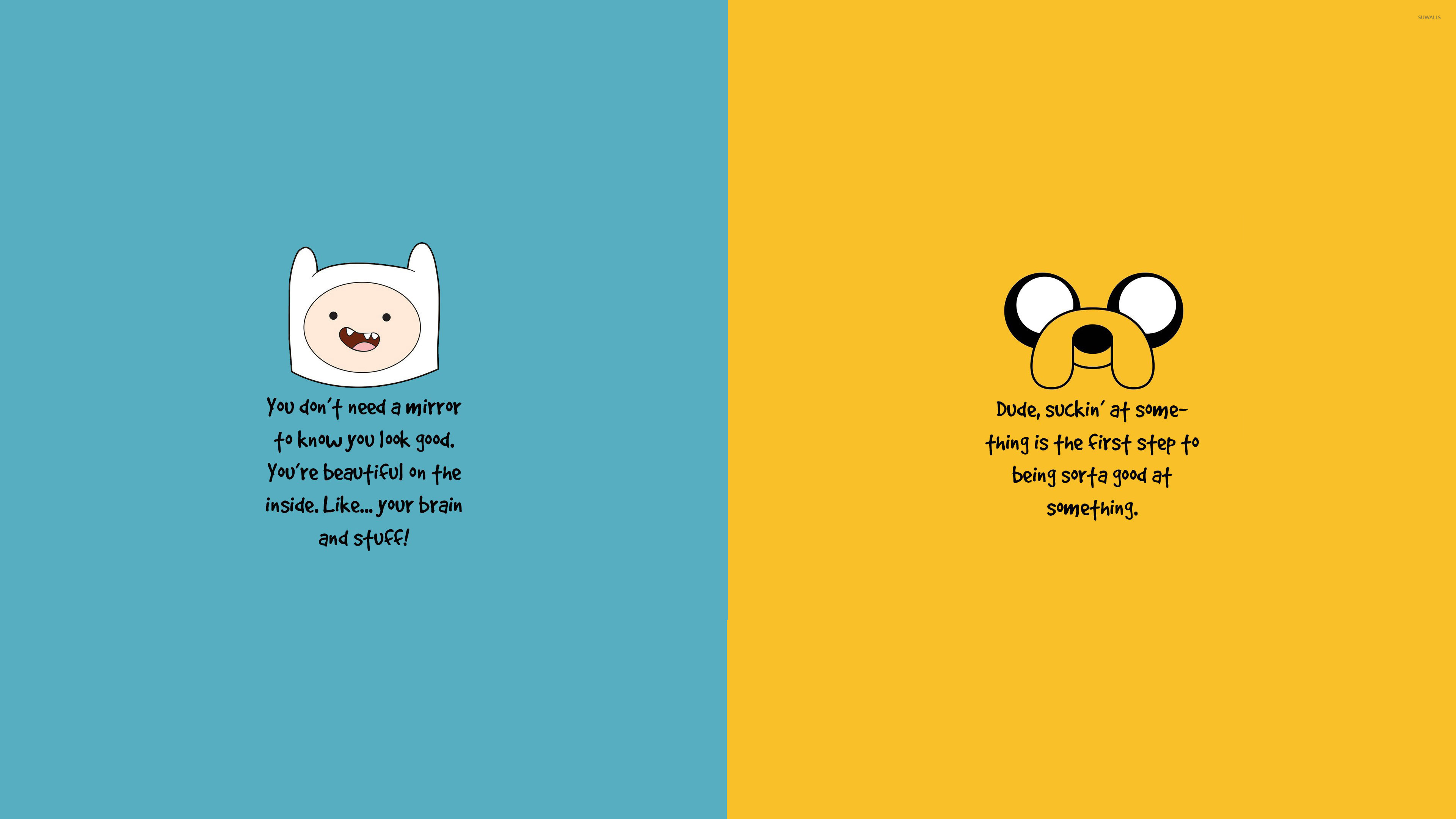 Adventure Time motivation wallpaper   Quote wallpapers   28003 3840x2160