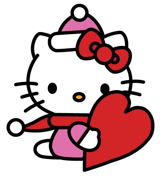 Hello kitty Happy Valentines Day 531x582