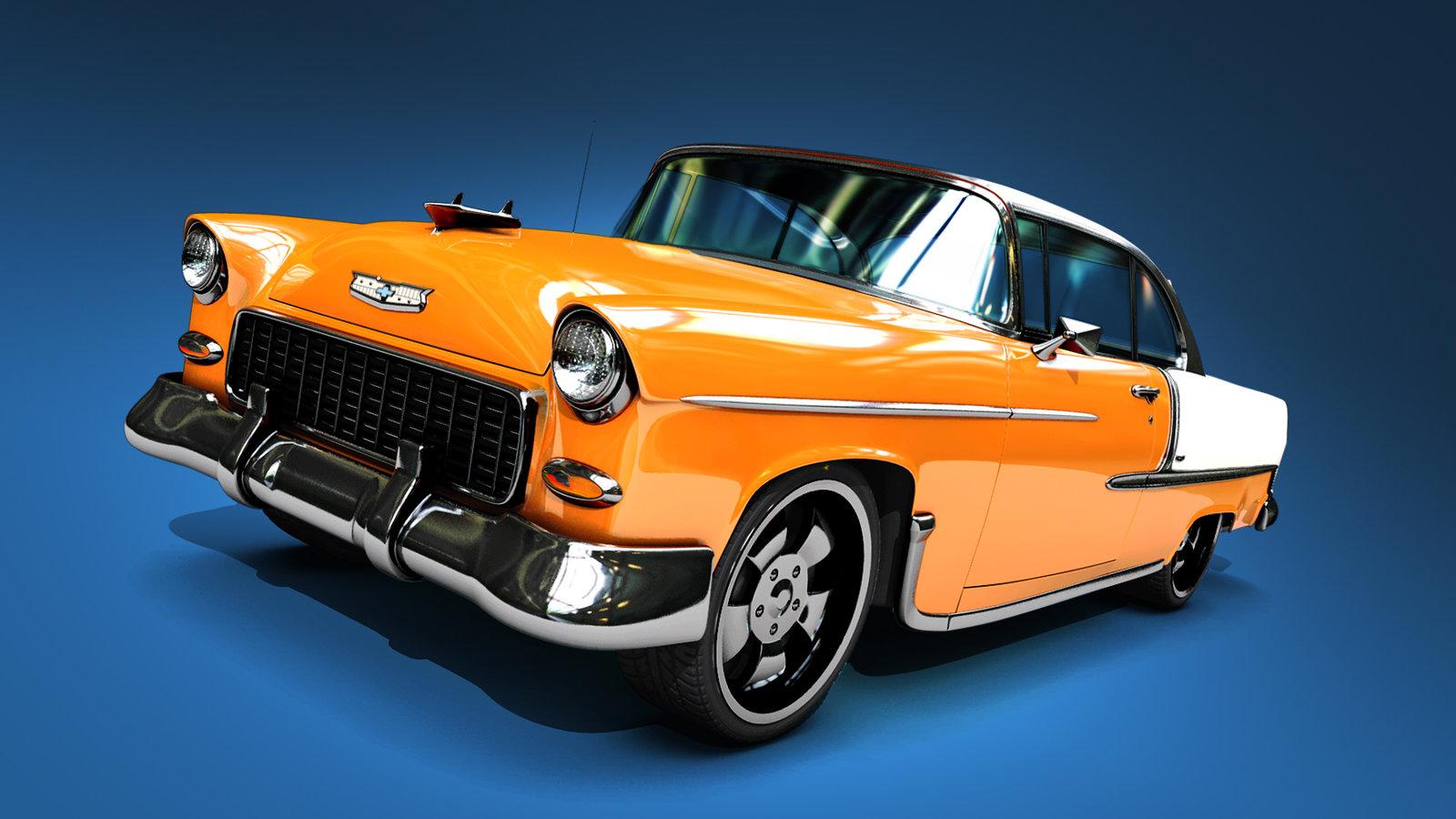 1955 Chevy Bel Air by kylecbastian on deviantART 1600x900