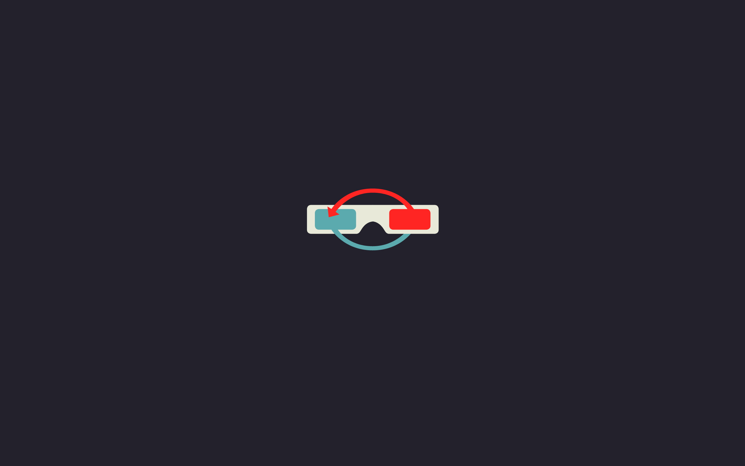 Minimalistic anaglyph 3d glasses wallpaper background 2560x1600