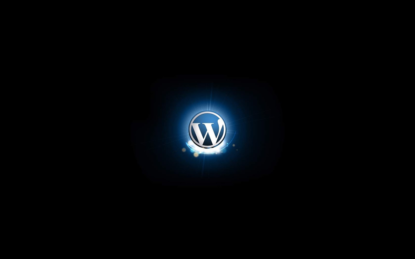 black blue wordpress logo wallpaper hd high quality black blue 1600x1000