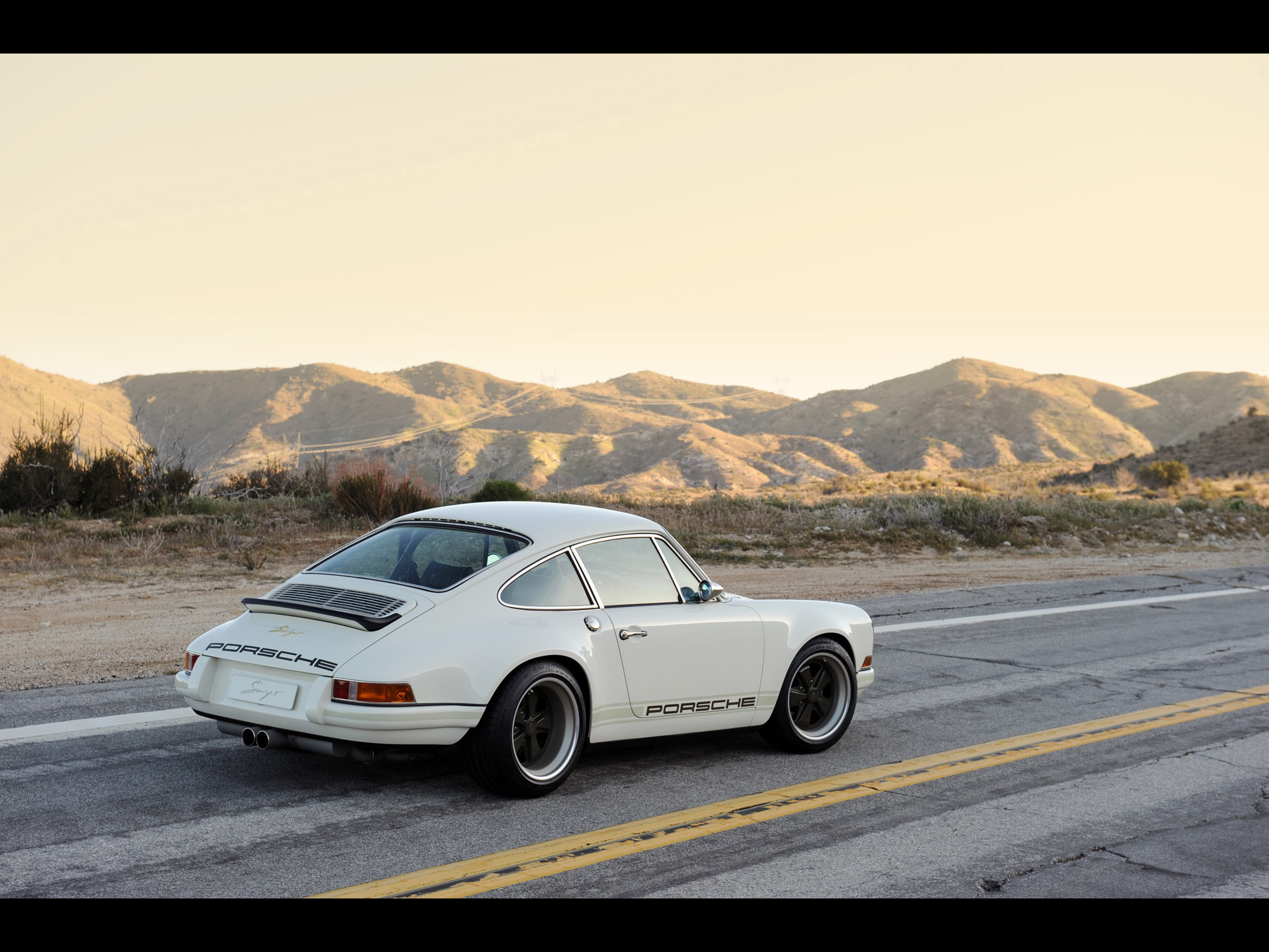 2011 Singer Porsche 911   White   Rear And Side 2 1920x1440