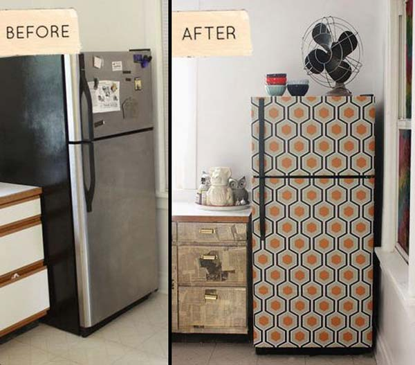 Free Download 27 Cool Diy Furniture Makeovers With Wallpaper