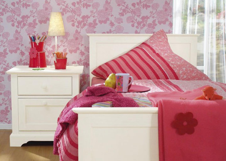 bed bedroom bedroom design flower wallpaper girl bedroom design girls 1440x1028