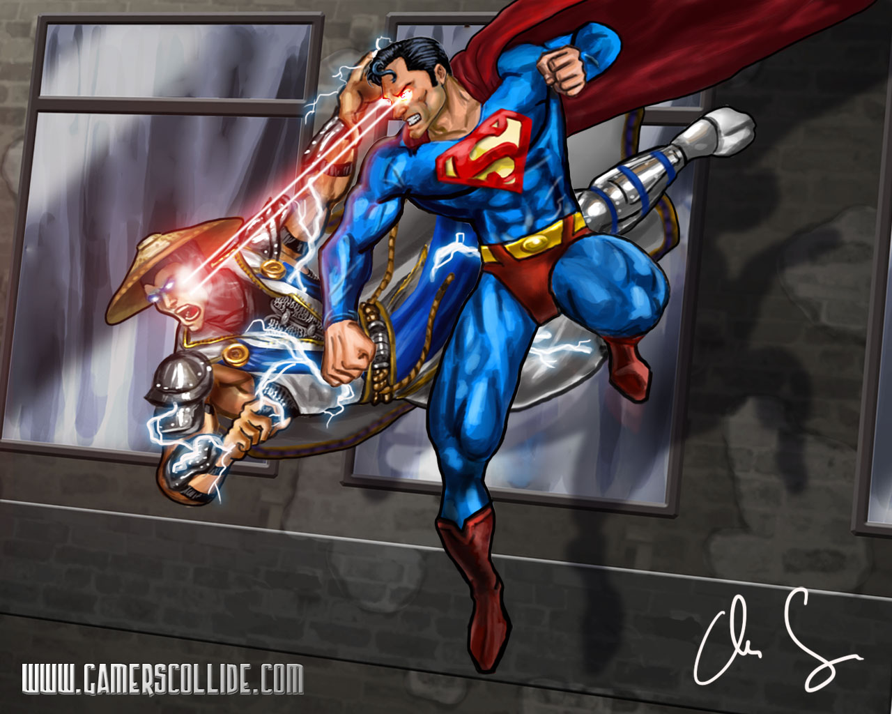 Superman vs Raiden drawing   Forums   Mortal Kombat X 1280x1024