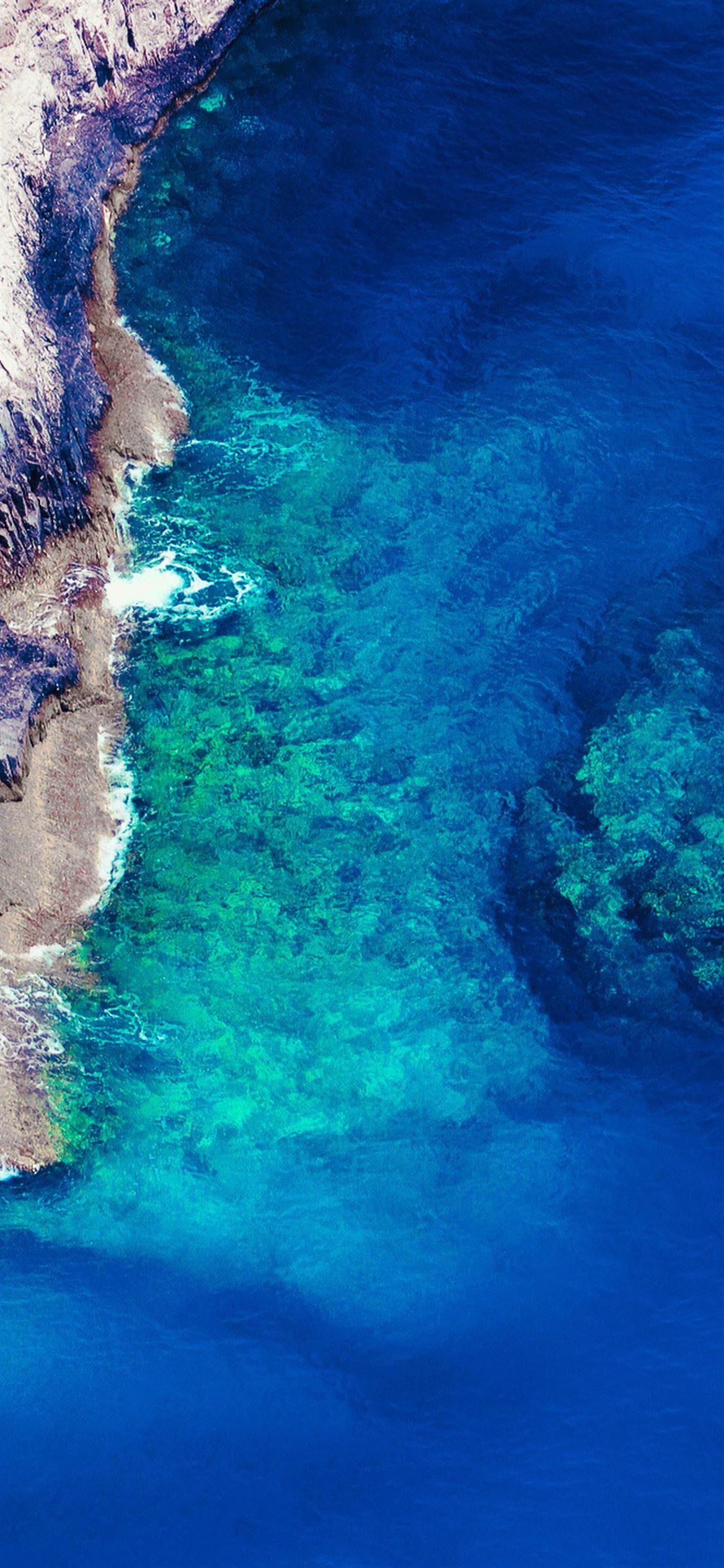 rock blue water iPhone 12 Wallpapers Download 1170x2532