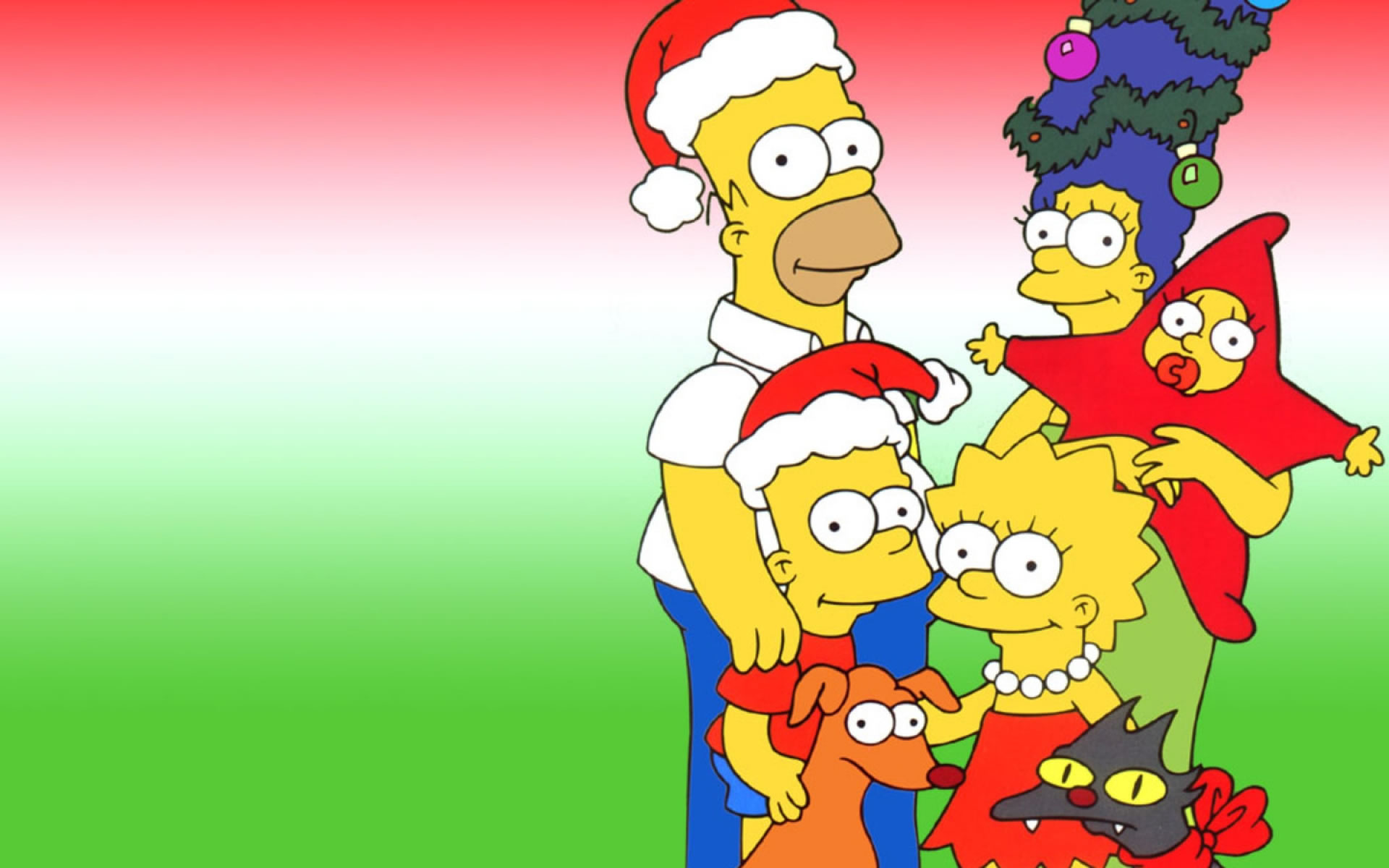 The Simpsons Christmas Wallpapers   Wallpapers   Wallpapers 1920x1200