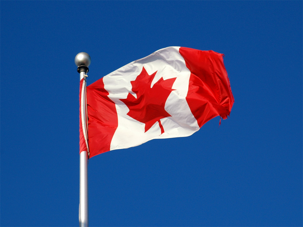 canadian flag wallpaper 1024x768