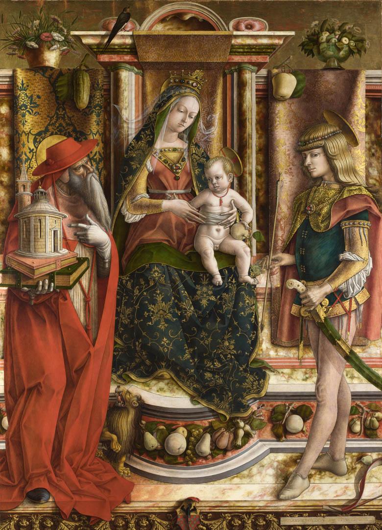 The Swallow   Italian Renaissance Carlo Crivelli Art Wallpaper Picture 780x1080