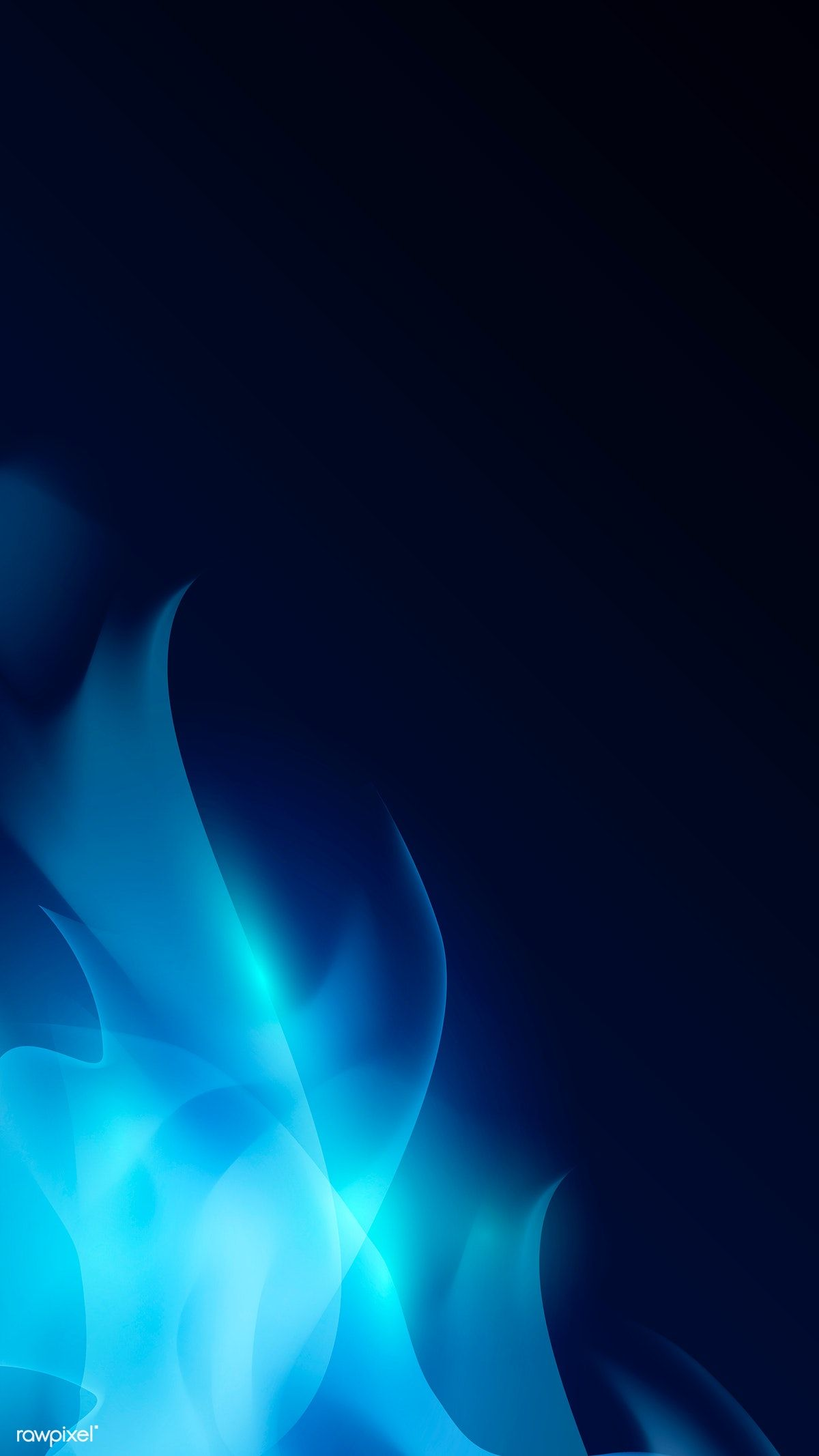 Blue blazing flame abstract background vector image by 1200x2133