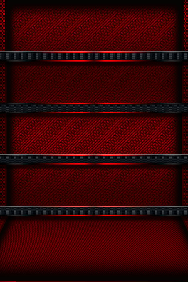Red Glow Shelf iPhone Wallpaper HD 640x960