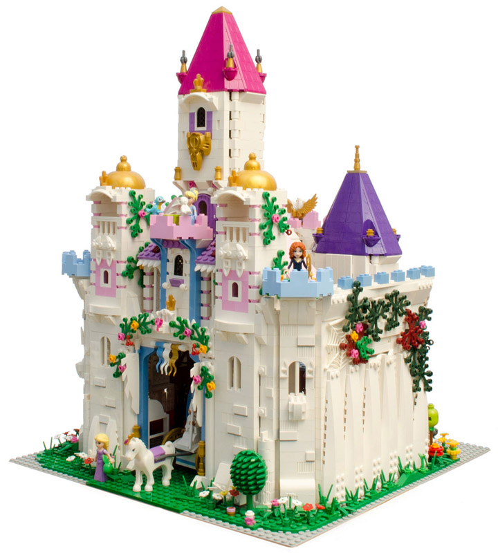 all of the lego friends and lego disney princess figures need a place 720x800