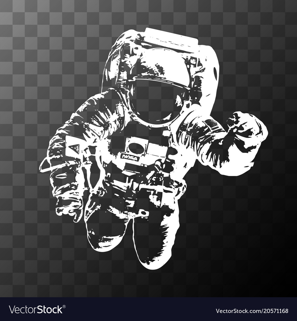 Astronaut on transparent background   elements of Vector Image 1000x1080