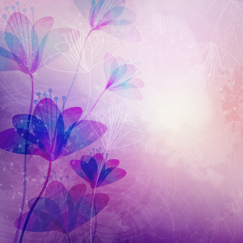 light purple flower art gallery