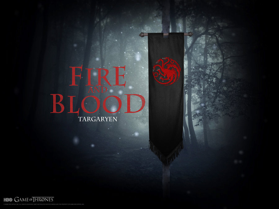 House Targaryen Wallpaper banner version by SiriusCrane on 900x675
