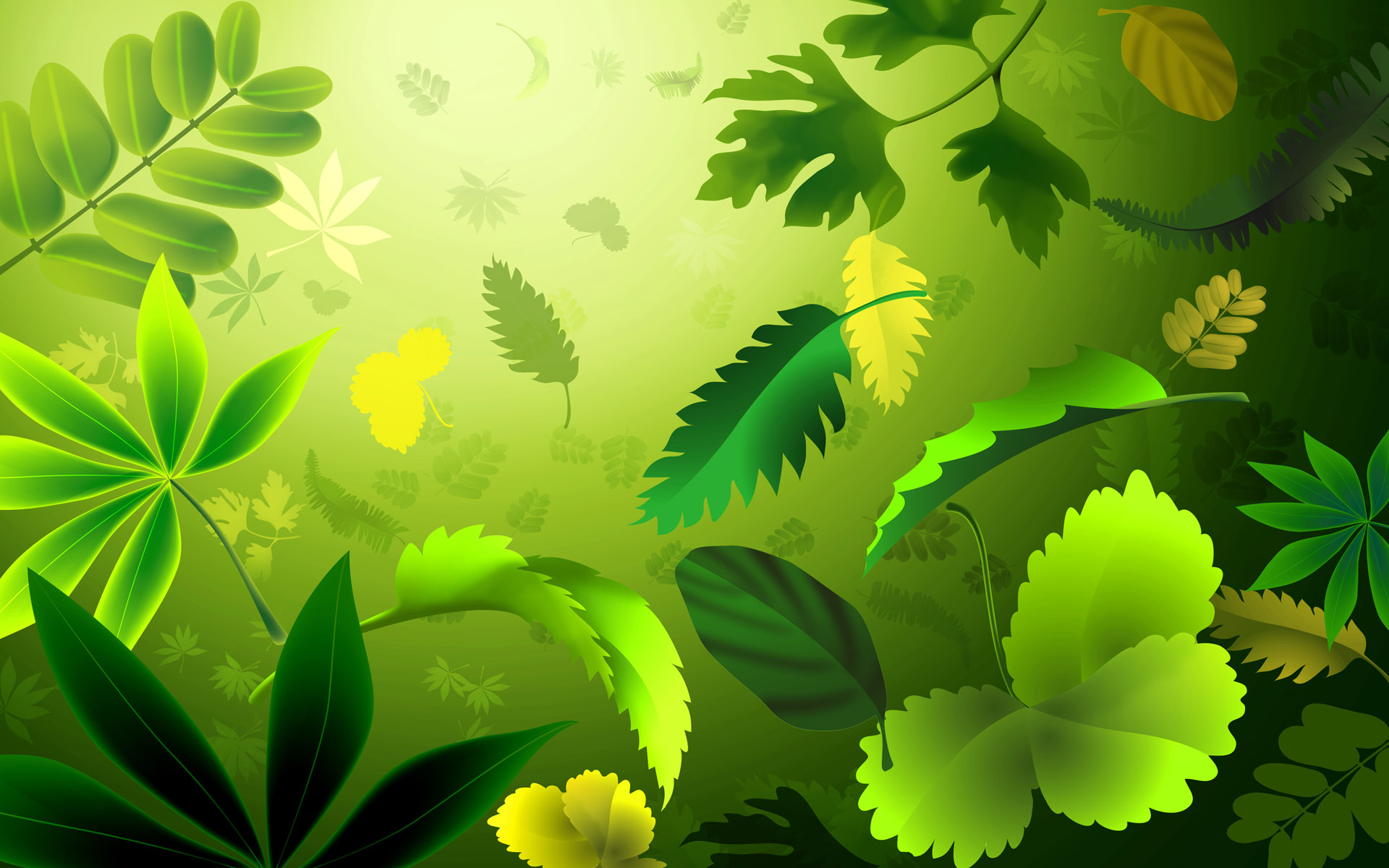 1920x1200 Green Leafs desktop PC and Mac wallpaper 1920x1200