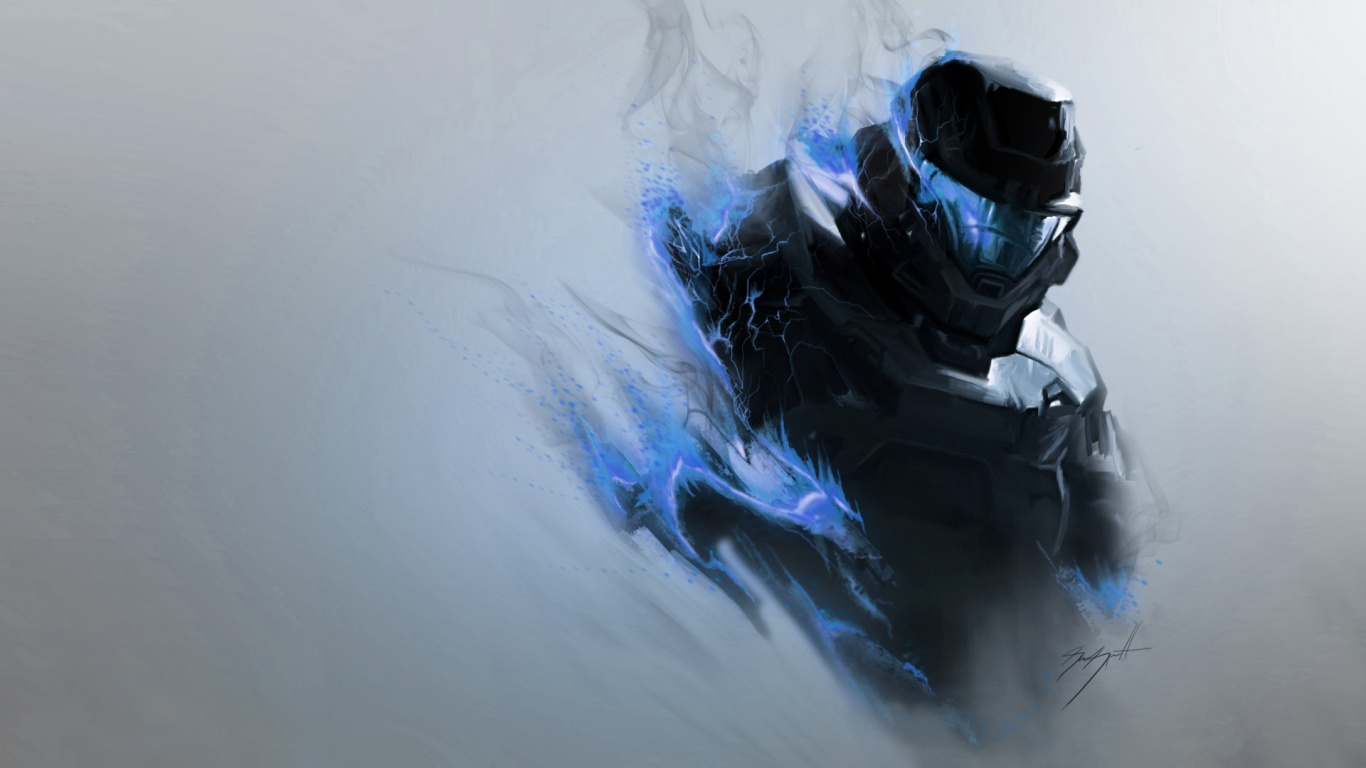 1366x768 Halo Spartan desktop PC and Mac wallpaper 1366x768
