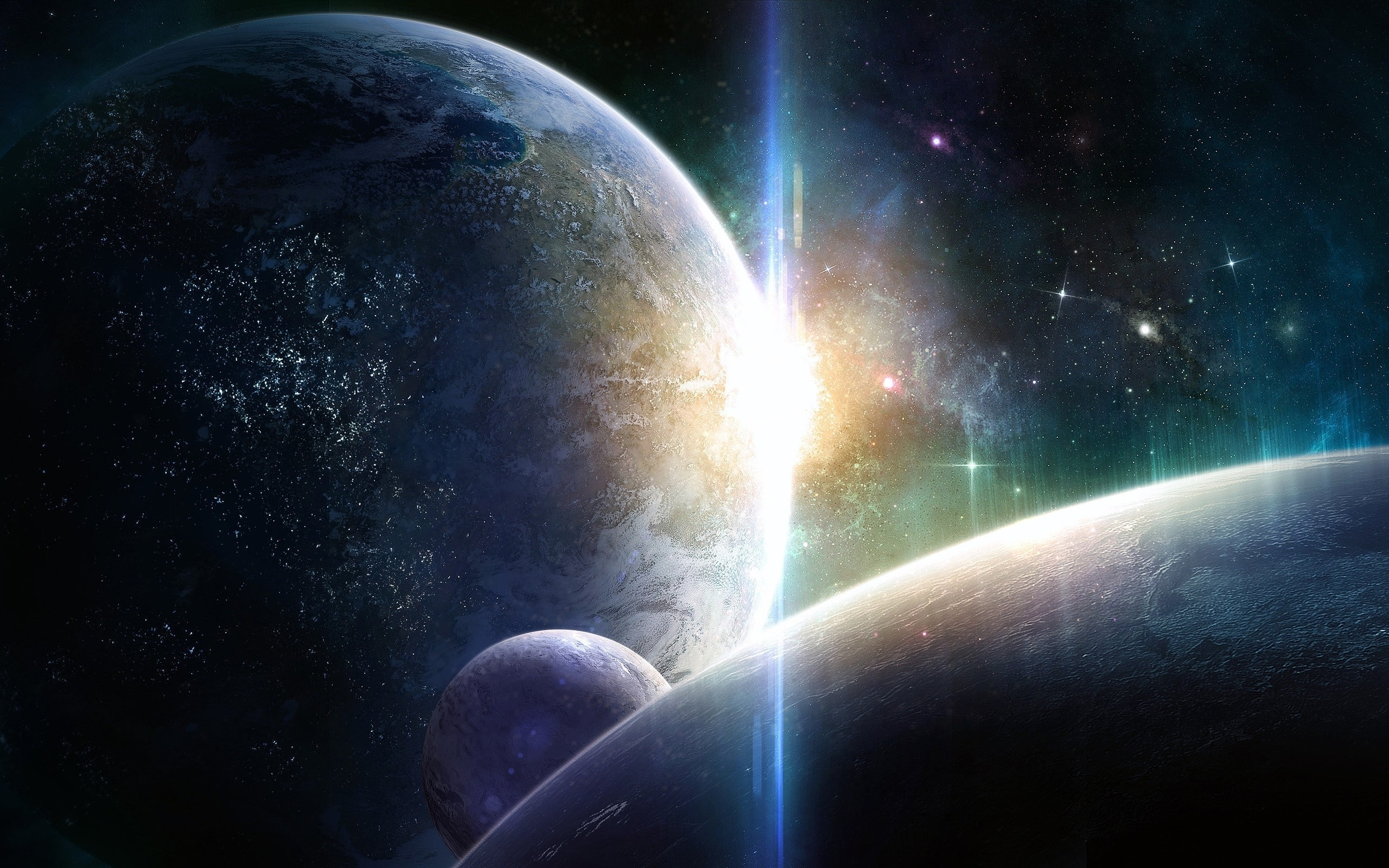 wallpaper light outer space stars planets categories space views 286 2560x1600