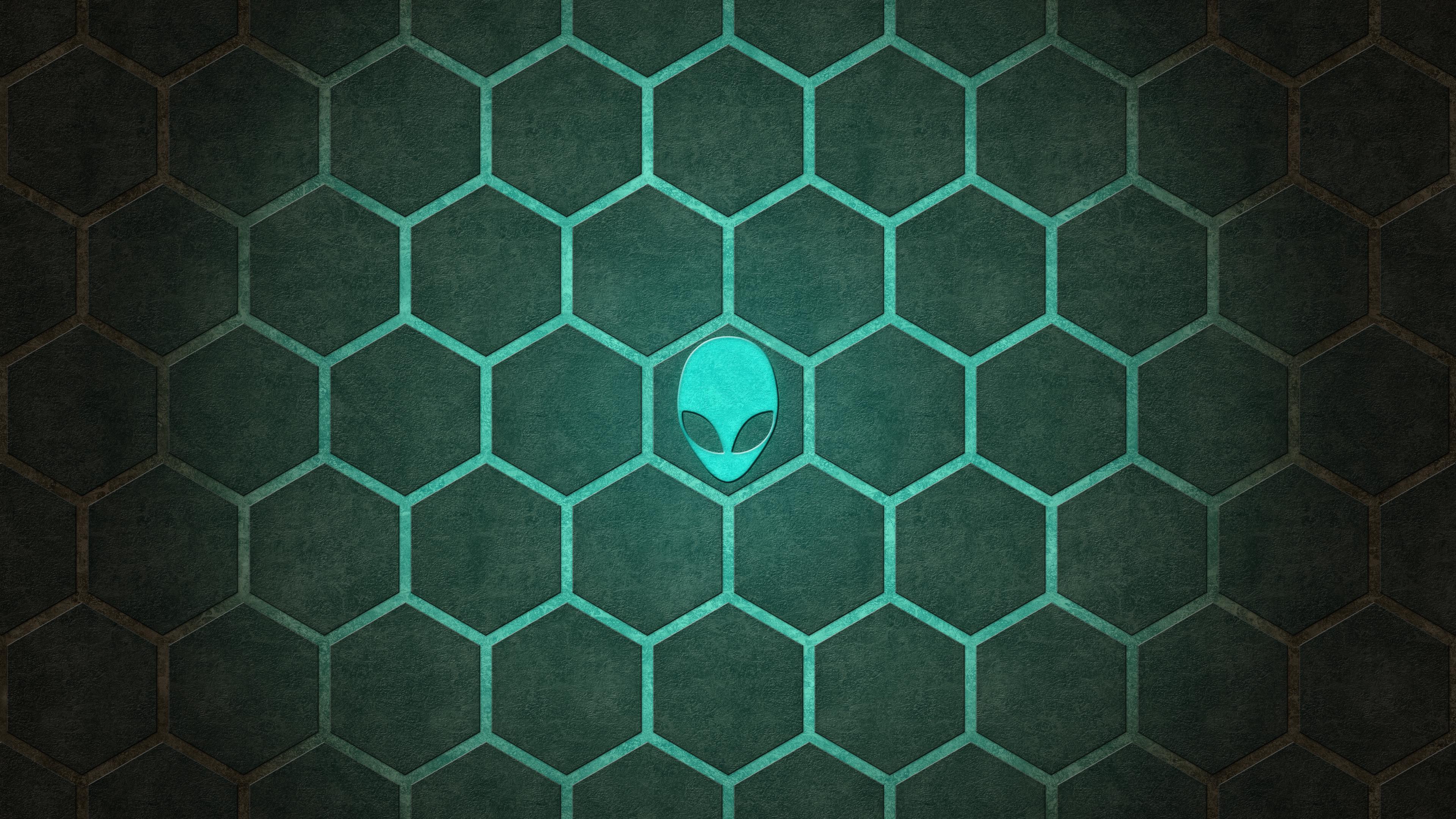 Alienware Hexagon UltraHD 4K wallpaper by Locix ITA 3840x2160