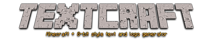 Textcraft Text logo maker   Minecraft 8 bit styles and more 694x135
