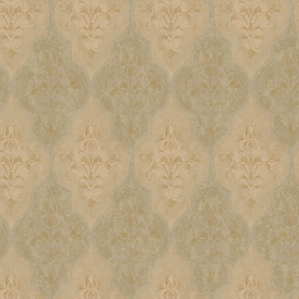 Brown Moroccan Damask Wallpaper   Wall Sticker Outlet 600x600