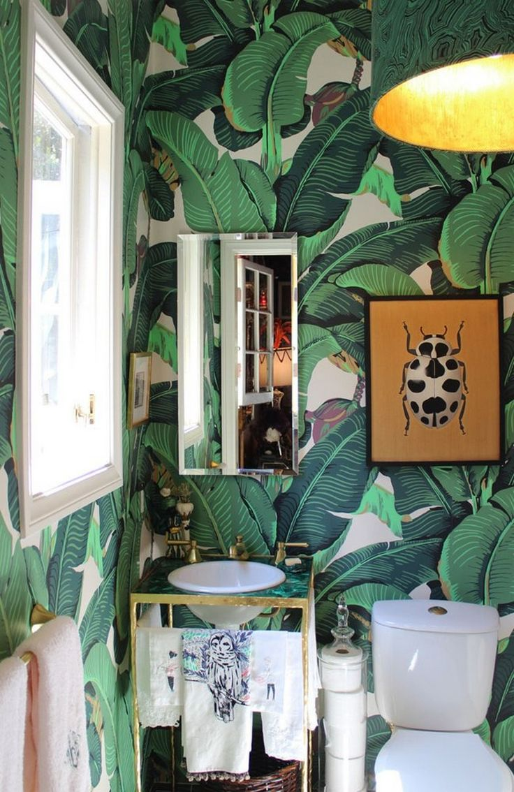 Big prints in small room banana leaf wallpaperkinda crazy kinda 736x1134