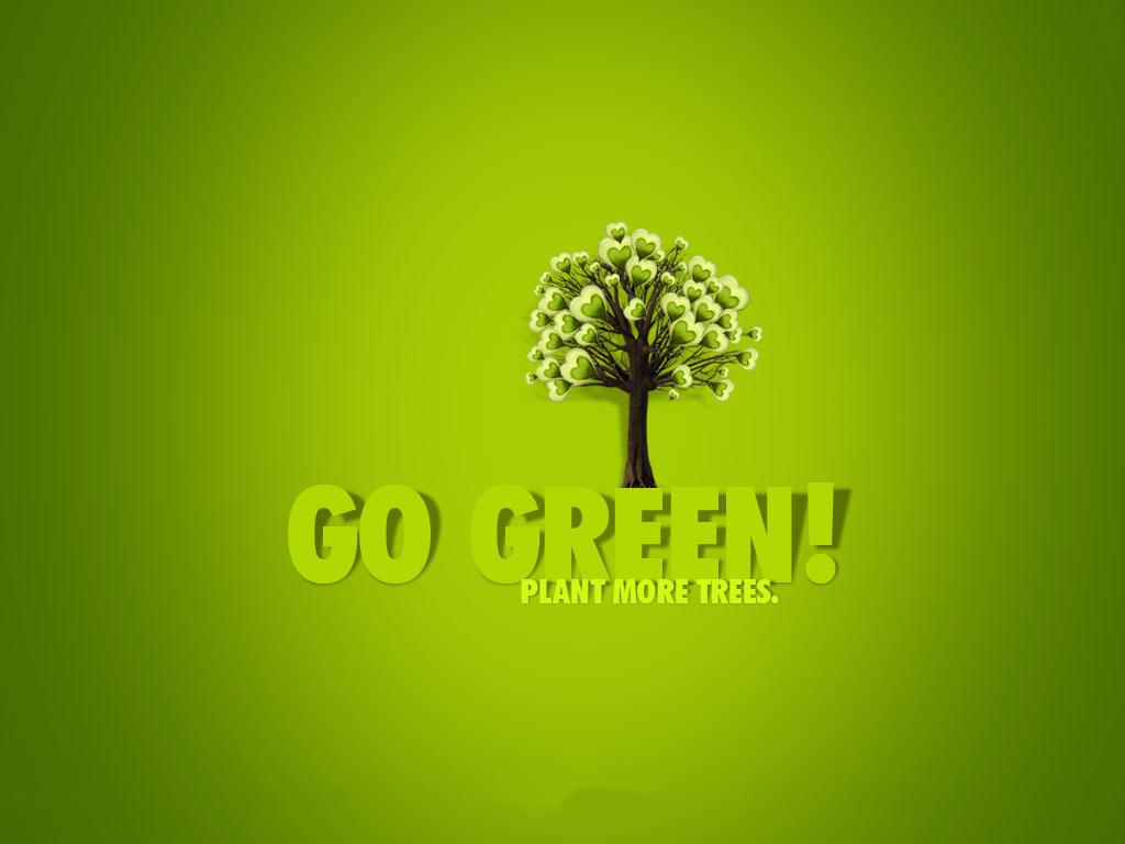 Datadiary Go green Save trees Wallpaper 1024x768