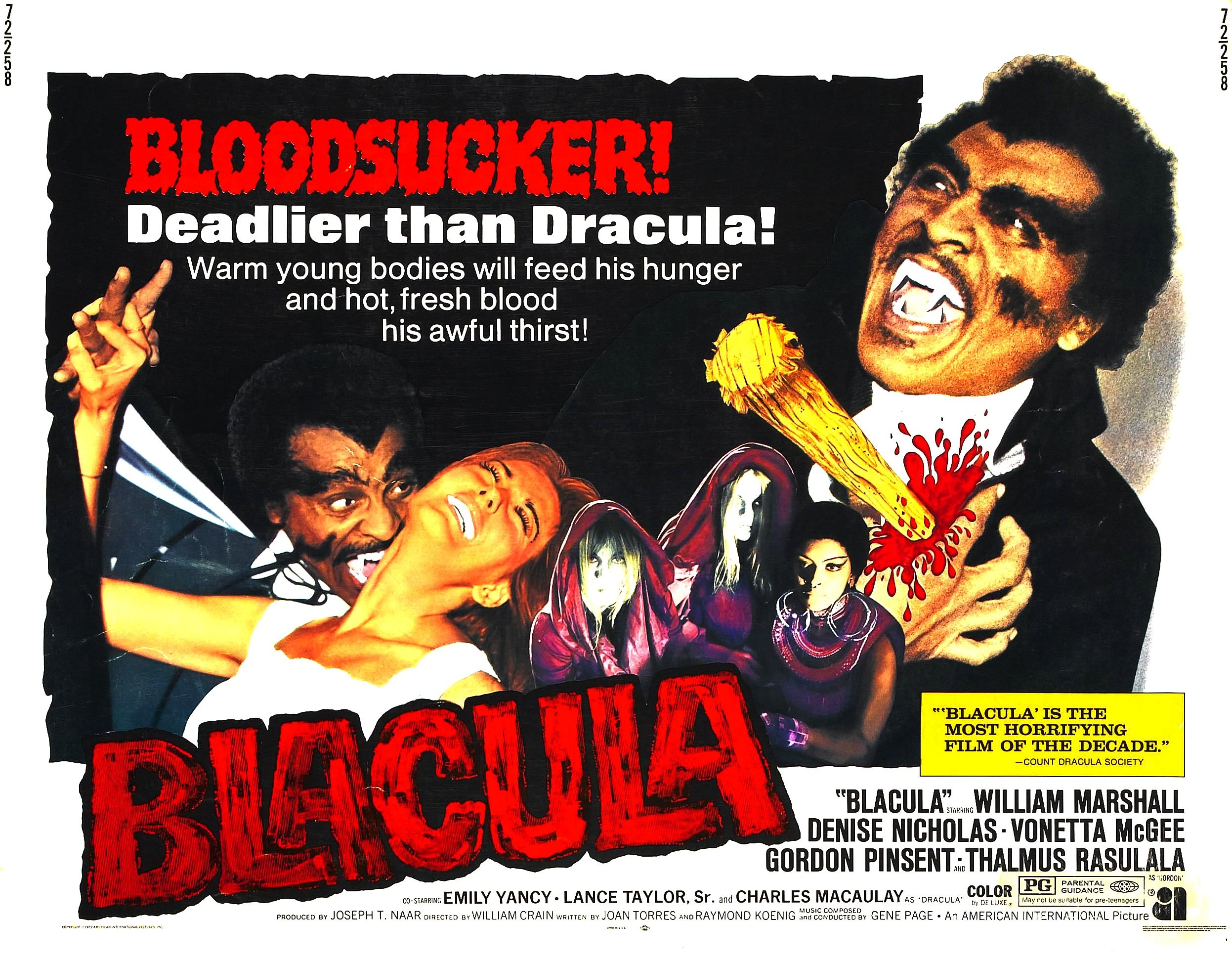 Blacula bites the dust in 1972 Matinee in 2019 Movie posters 2493x1946