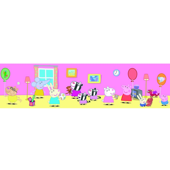 Fun4Walls Peppa Pig Official Childrens Wallpaper Border BO10650 700x700