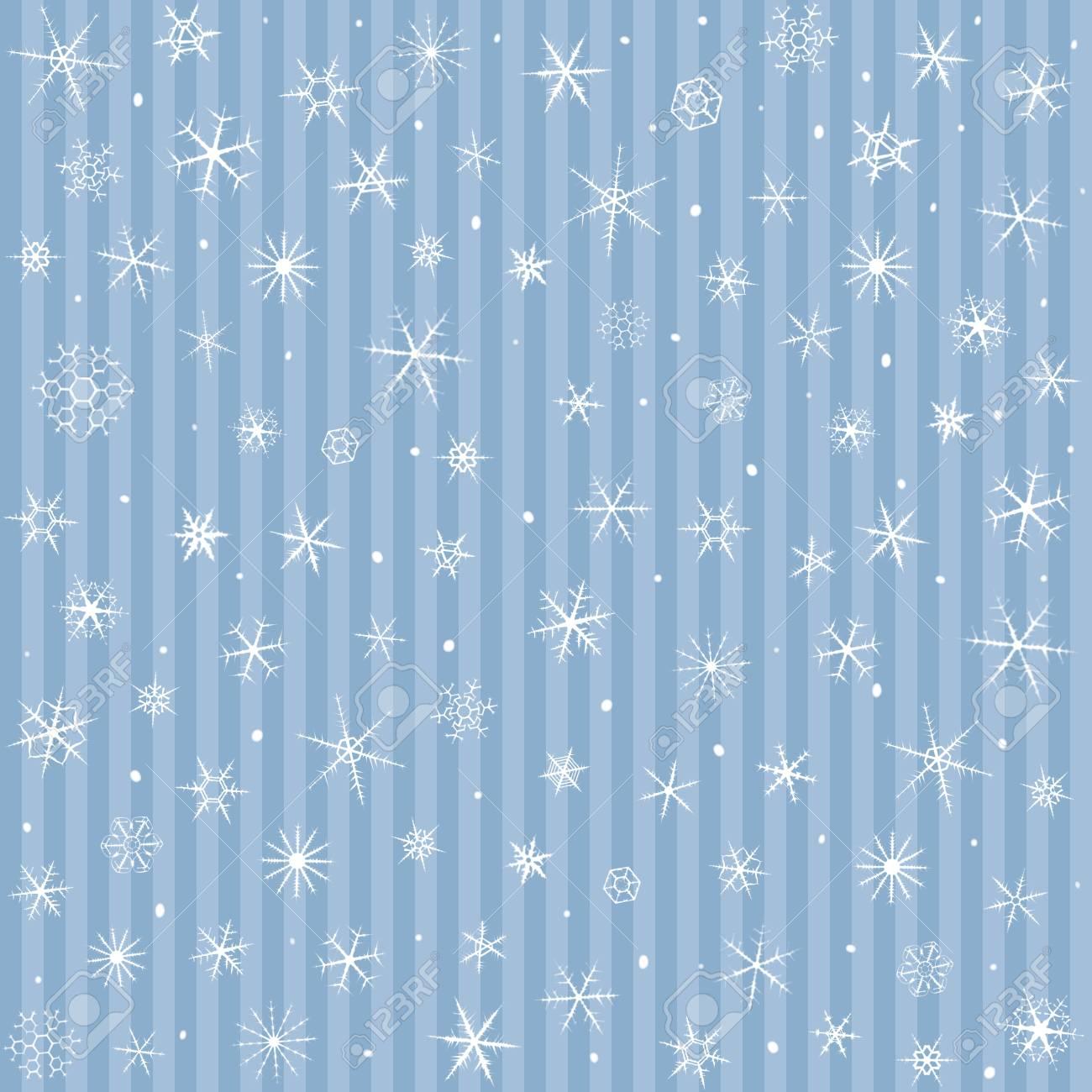 Copos De Nieve En Invierno Patrn Backgroundseamless Azul De 1300x1300