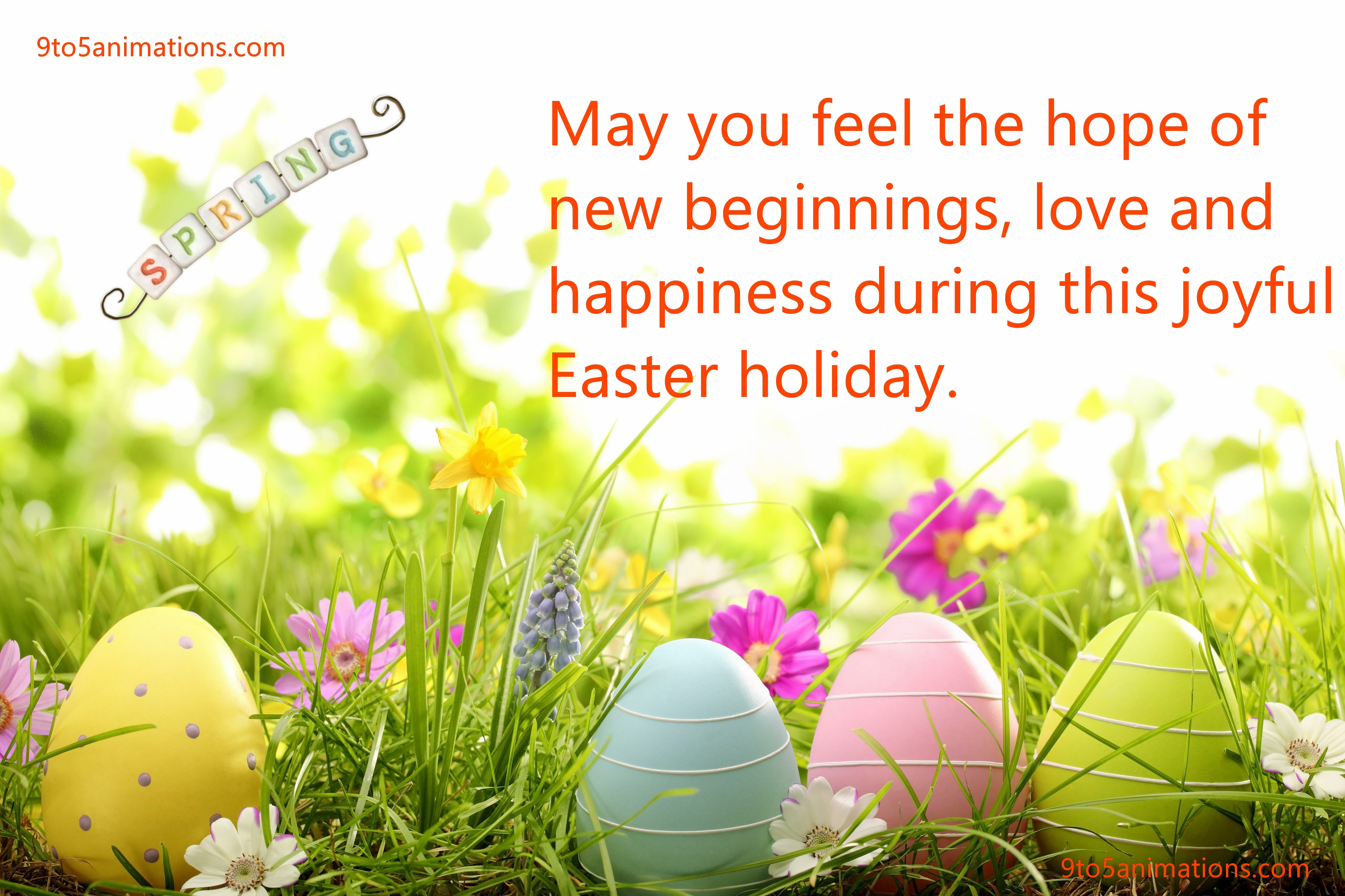 2018 Happy Easter Wishes Images 9To5AnimationsCom 4520x3013