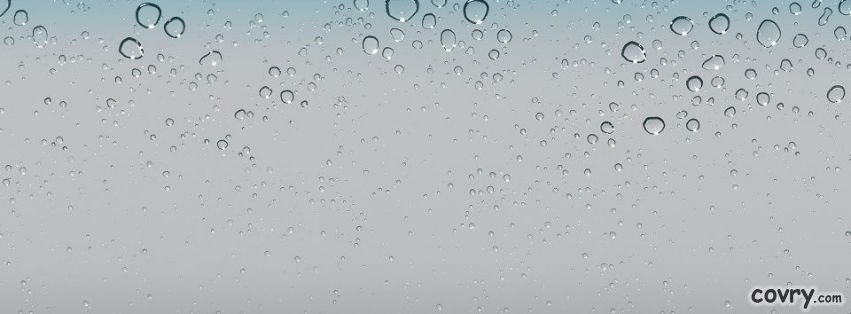 IOS 5 Wallpaper   Water Drops facebook cover 851x314