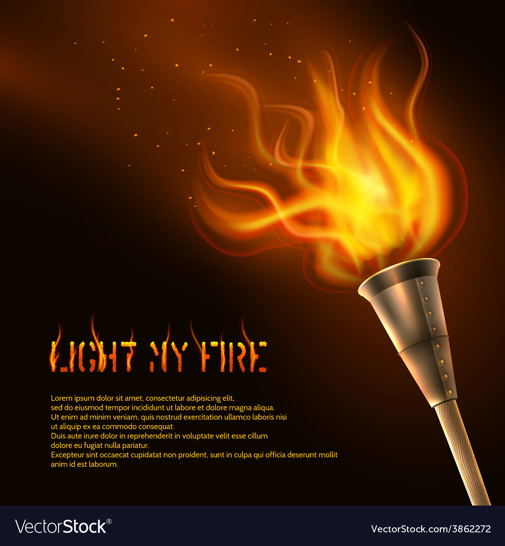 Torch Realistic Background Royalty Vector Image 1000x1080