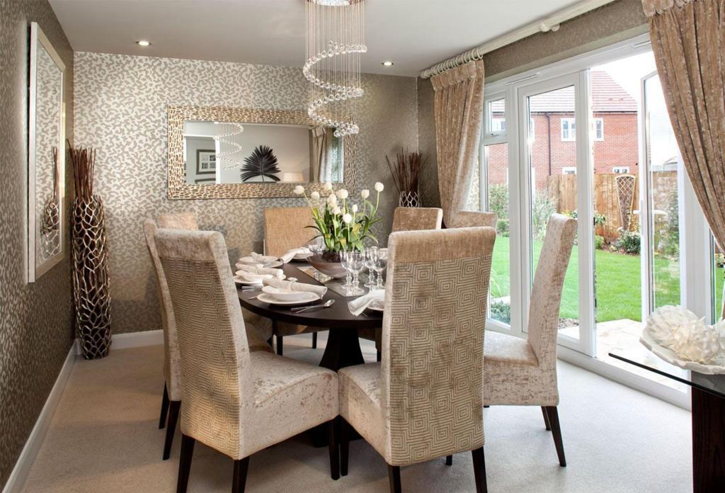 dining room modern contemporary wallpaper chandelier hmmm giant vase 1024x696