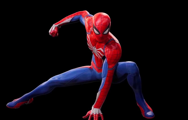 Wallpaper costume black background sony Marvel suit Spider 1332x850