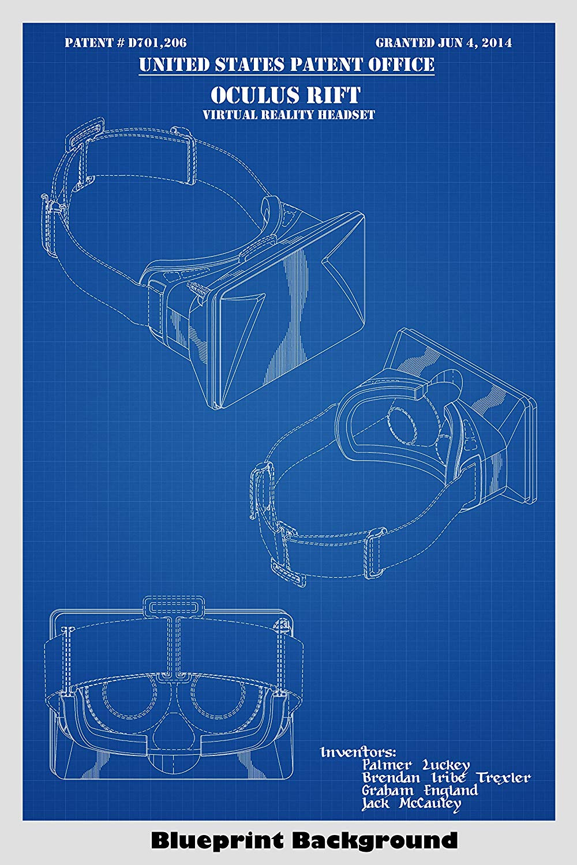 Amazoncom Oculus Rift Patent Print Art Poster Choose From 1000x1500