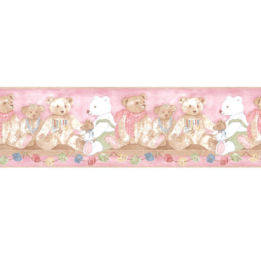 Coloroll Vintage Alphabet Teddy Bear Wallpaper Border 708322 1000x1000