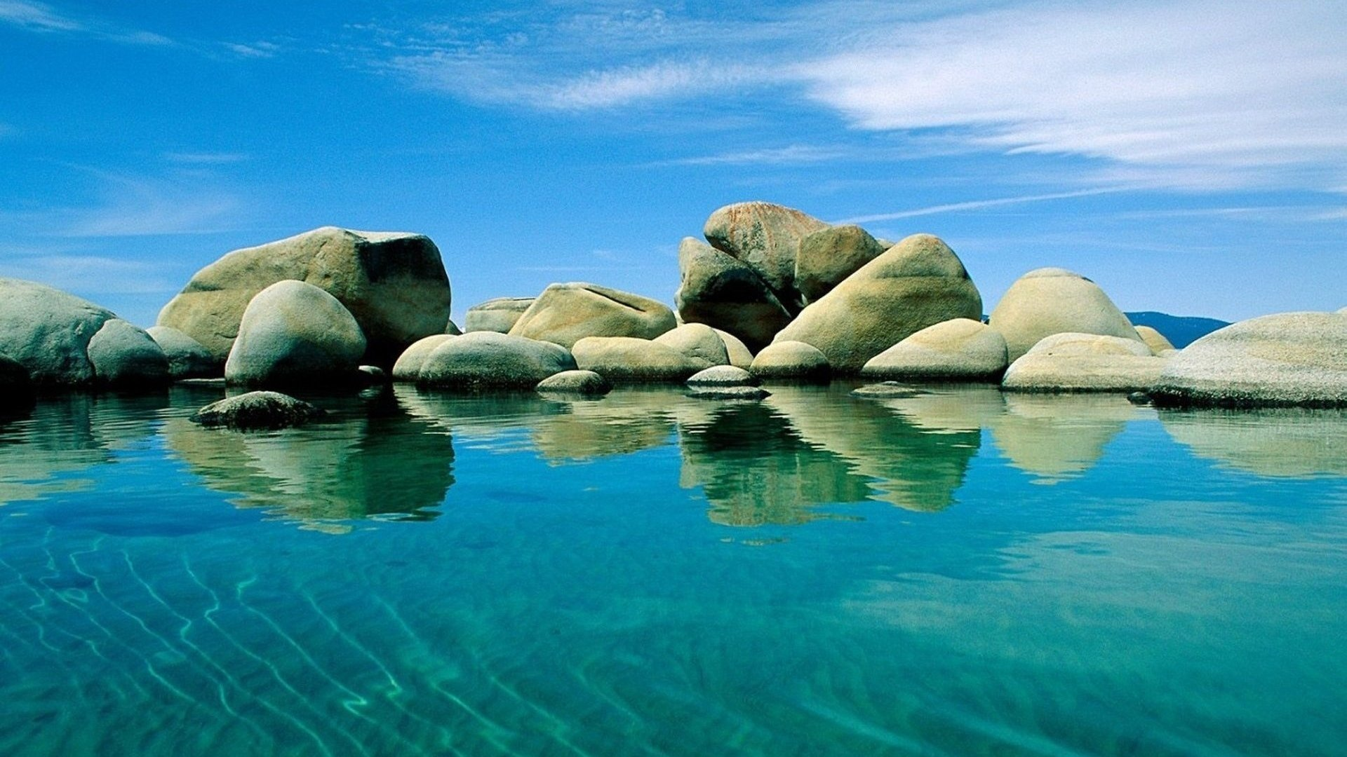 Download 1920x1080 HD Wallpaper adriatic sea stone clear water 1920x1080