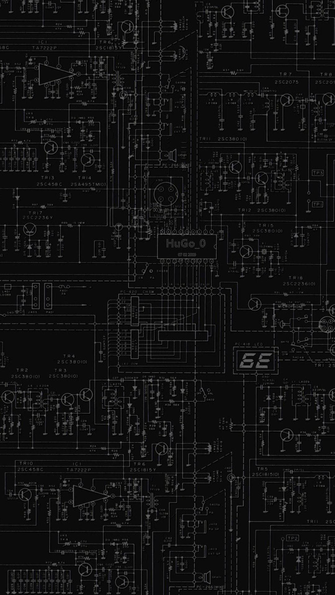 Hd wallpaper iphone 5 - Dark Circuit Board Iphone 6 6 Plus And Iphone 5 4 Wallpapers