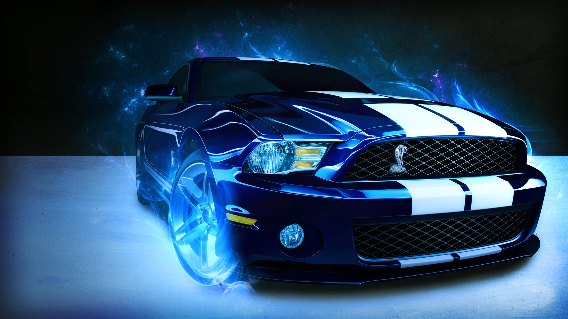 mustang ford shelby wallpaper blue neohdwalls 1920x1080