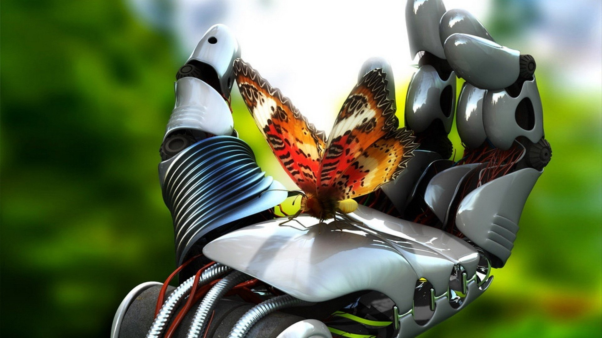 hd Wallpaper in high resolution for Get Robot Hand Butterfly hd 1920x1080