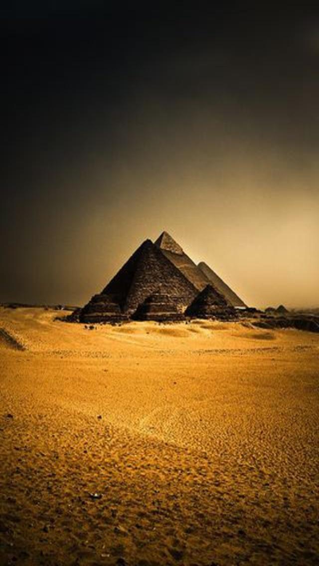 Great Sphinx Chephren Pyramid Giza Egypt Landscape Wallpaper 640x1136