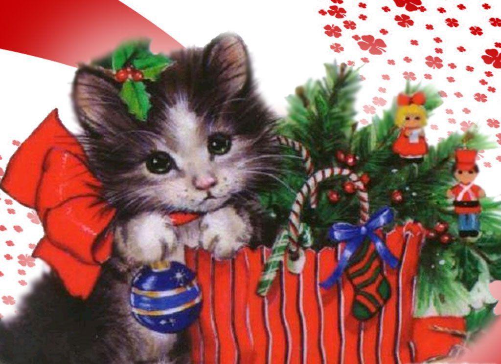 Christmas Kitten Wallpapers 3 1024x745