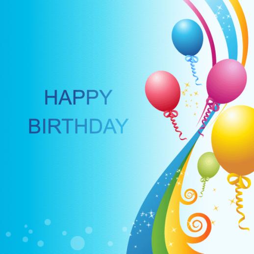 Happy Birthday Background Template Vector   EPS   Graphics 518x518