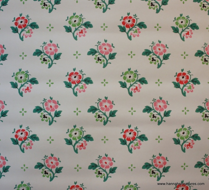 1940s Vintage Wallpaper Vintage flower wallpaper Pinterest 736x669