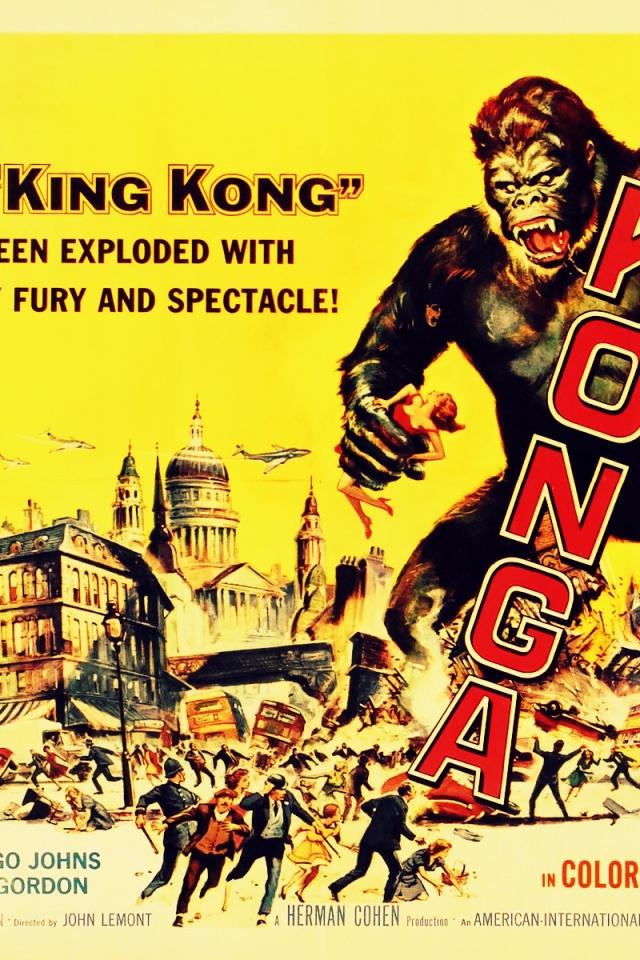 640x960 Vintage Cinema Konga Iphone 4 wallpaper 640x960