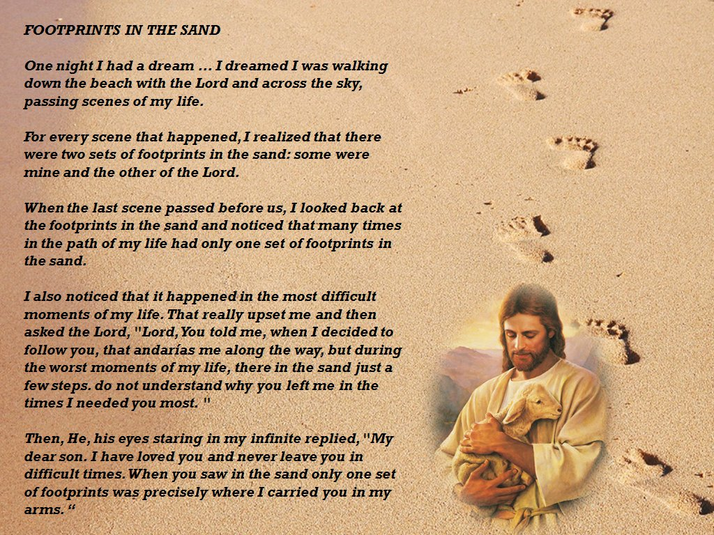 Outstanding Footprints In The Sand Poem Wall Art Ideas - Wall Art ...