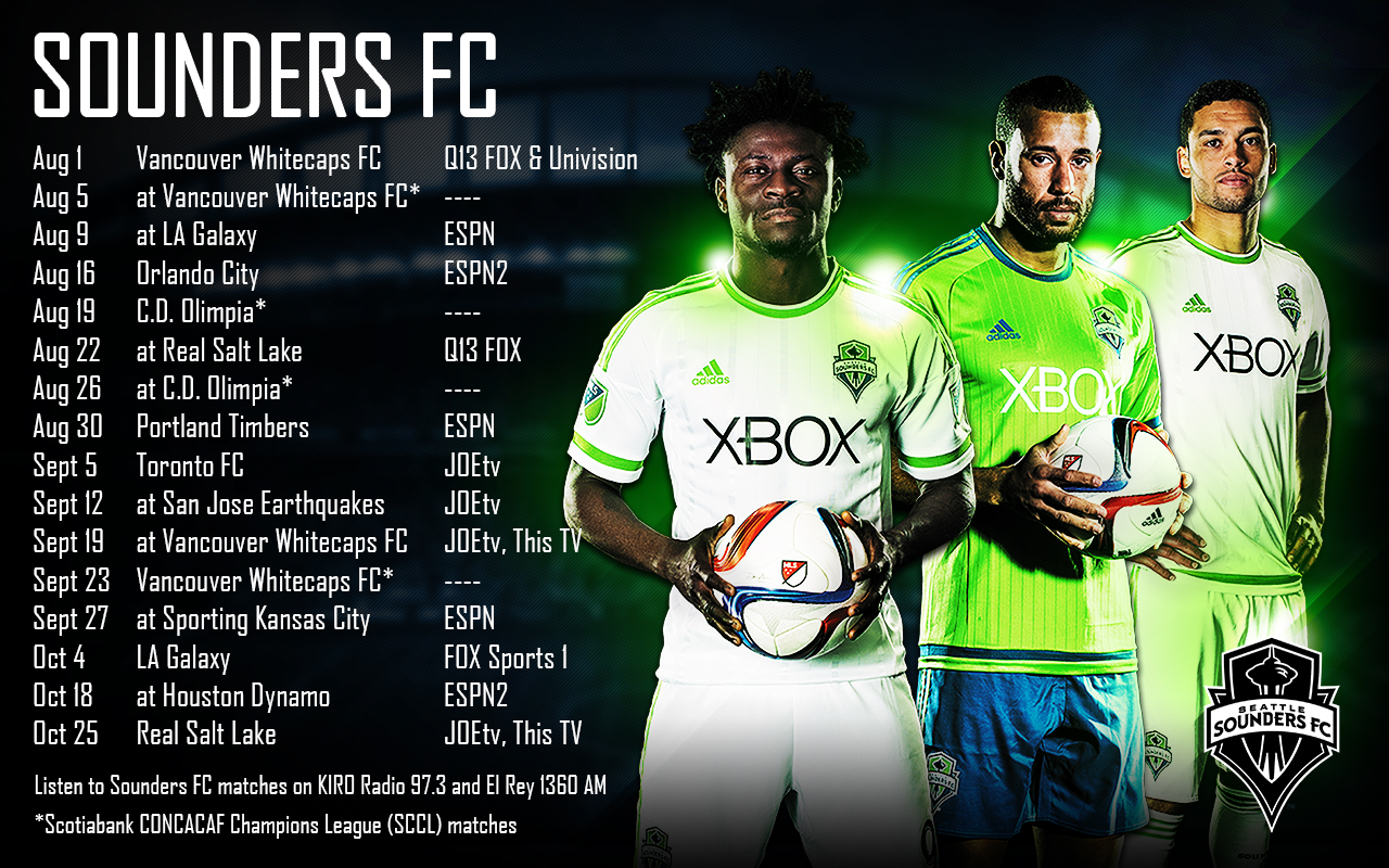 Updated Schedule Wallpaper | Seattle Sounders FC